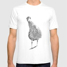 Inquisitive seagull Mens Fitted Tee SMALL White