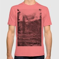Birch Hallow, Teton Mountains Mens Fitted Tee Pomegranate SMALL