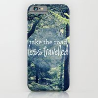 iPhone & iPod Case featuring Take The Road Less Travelled by Audrey Kelly