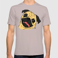 Pug Mens Fitted Tee Cinder SMALL