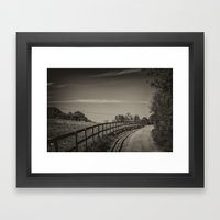 Country Path Framed Art Print