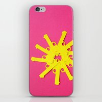 Gun Flower on Pink iPhone & iPod Skin
