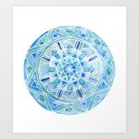 Blue Mandala 1 Art Print