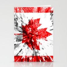 Canada Flag - Extrude Stationery Cards