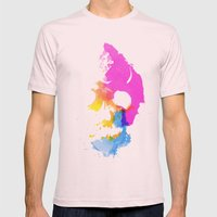 Skull Pop  Mens Fitted Tee Light Pink SMALL