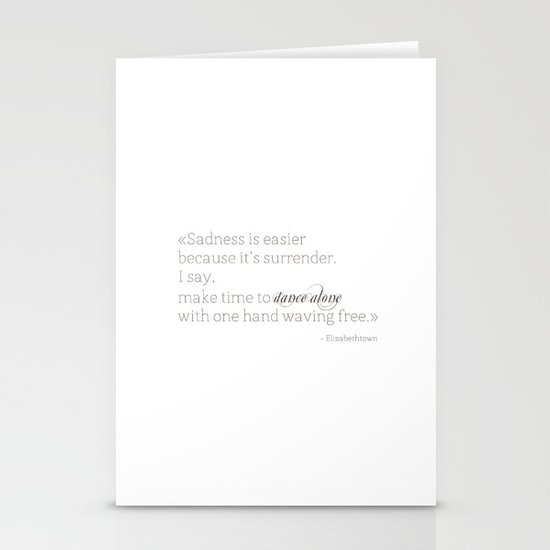 Elizabethtown Quote Stationery Card