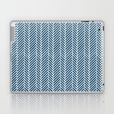 Herringbone Navy Inverse Laptop & iPad Skin
