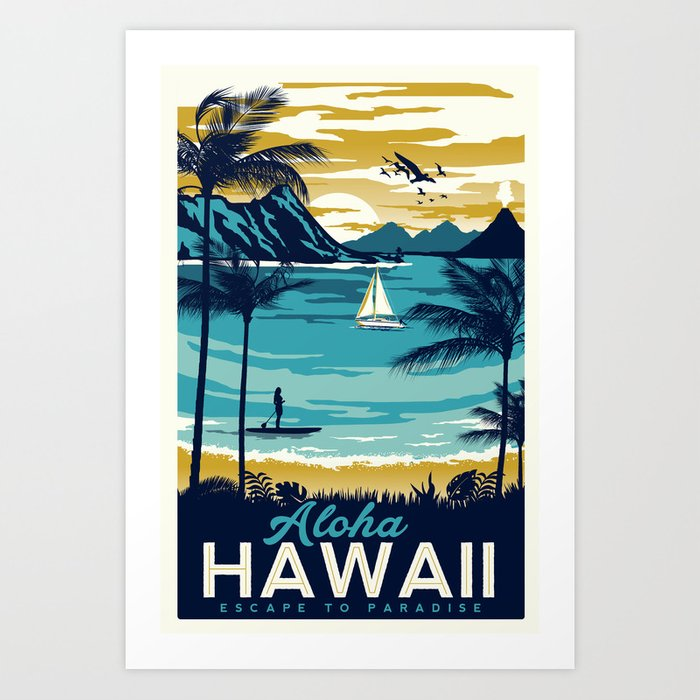 Sunday's Society6 - Aloha Hawaii art print