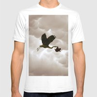 The stork Mens Fitted Tee White SMALL