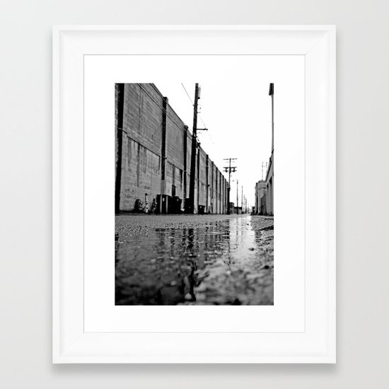 Gritty urban alley Framed Art Print