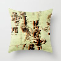 Illustration Mashup Throw Pillow