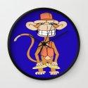 Cymbal Banging Monkey Wall Clock