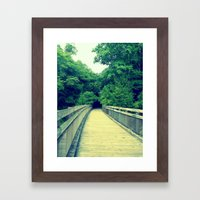 Into the Adventure Framed Art Print