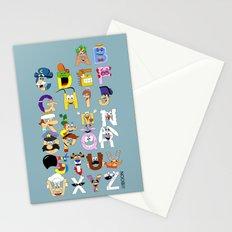 Breakfast Mascot Alphabet Stationery Cards