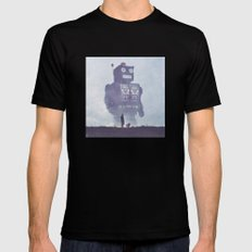 BEWARE THE GIANT ROBOTS! Mens Fitted Tee SMALL Black
