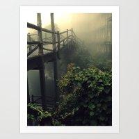 Sticks, Leaves, And Mort… Art Print