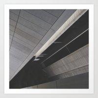 Footpath Below Art Print
