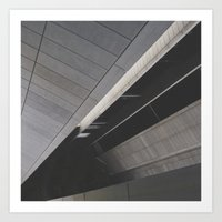 Footpath below Art Print