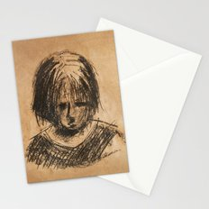 sad girl Stationery Cards