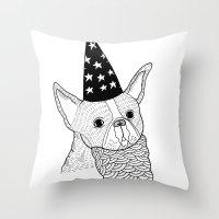 Dog Wizard Throw Pillow