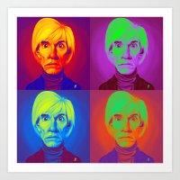 Celebrity Sunday - Andy Warhola on Andy Warhola Art Print
