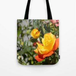 Tote Bag - Blooming Gold... - Cherie DeBevoise