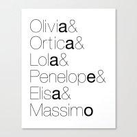 Names Canvas Print