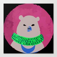 CIRCUS BEAR Canvas Print