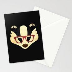 Hipster Badger Stationery Cards