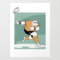 Rugby Player Art Print