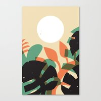 Jungle Sun #1 Canvas Print