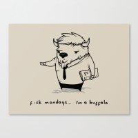 I'm a buffalo Canvas Print