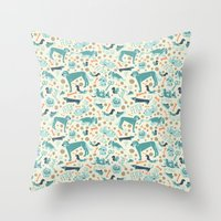 Park Dogs Throw Pillow