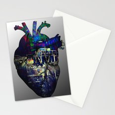 Denver in a Glitched Heart Stationery Cards