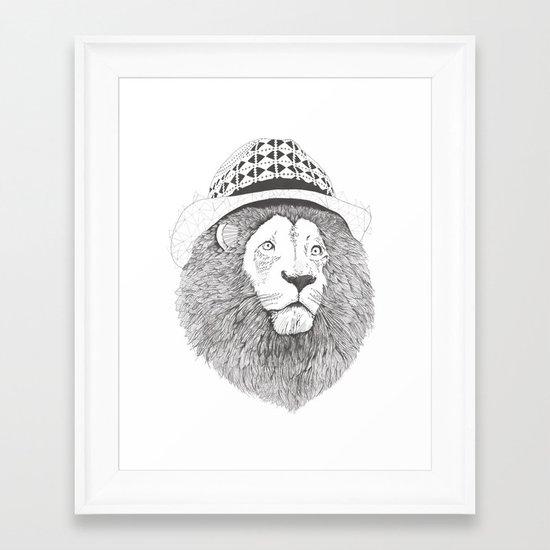 Aztec Lion Framed Art Print