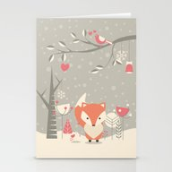 Christmas Baby Fox 03 Stationery Cards