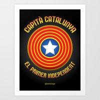 Capità Catalunya Art Print