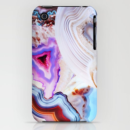 Agate, a vivid Metamorphic rock on Fire iPhone & iPod Case