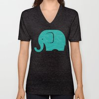 Fun At The Zoo: Elephant Unisex V-Neck