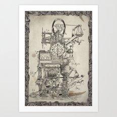 Lord Sargasso's Wondrous oldfangled nugatory contraption Art Print