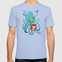 Michelle's Coffee Drinki… Mens Fitted Tee Tri-Blue SMALL