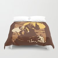 The Scoundrel & The Wookie Duvet Cover