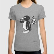 Pingu Womens Fitted Tee Tri-Grey LARGE