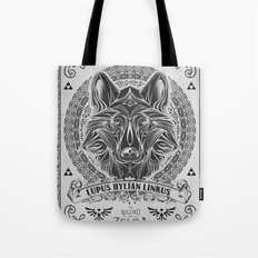Legend of Zelda Twilight Wolf Link Line Art Tote Bag