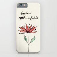 iPhone & iPod Case featuring freedom unfolds by karindrawings