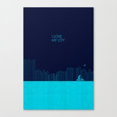 I love my City Canvas Print