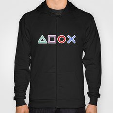 Gamer Pattern Color on White Hoody