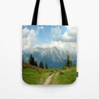 Mountain Range in Austria Tote Bag