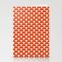 Dragon Scales Tangerine  Stationery Cards