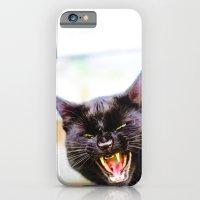 Angry black cat iPhone 6 Slim Case